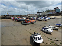 SN1300 : Tenby harbour at low tide by Steve  Fareham