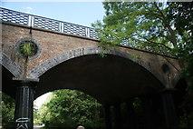 "TQ2783 : View of ""Blow Up Bridge"" (Avenue Road bridge) from the Regent's Canal in Regent's Park by Robert Lamb"
