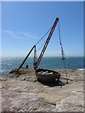 SY6768 : Old quarry hoist, Portland Bill by Gareth James