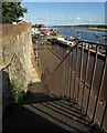 SX9687 : Steps to Ferry Road, Topsham by Derek Harper