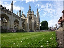 TL4458 : The intricate architecture of King's College, Cambridge by Richard Humphrey