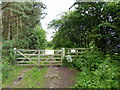 NT9637 : Entrance to Ford Moss Nature Reserve by PAUL FARMER