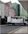 ST3188 : Charles Saunders Food Service lorry in Upper Dock Street, Newport by Jaggery