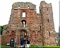 NU1241 : Entrance to Lindisfarne Priory by PAUL FARMER