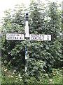 NY3563 : Mooredge Signpost by Matthew Hatton