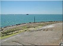 SZ6497 : Southsea, coastal defences by Mike Faherty