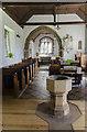 TF3472 : Interior, St Margaret's church, Somersby by Julian P Guffogg
