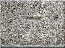 SW7834 : Ordnance Survey Cut Mark with Bolt by Peter Wood