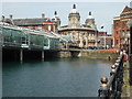 TA0928 : Hull Maritime Museum and municipal offices across Princes Dock by Chris Allen
