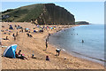 SY4690 : Harbour Beach and Cliff at West Bay by David Dixon