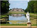 TL0934 : Statue looking over Long Water at Wrest Park by Richard Humphrey