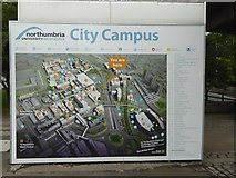 NZ2564 : Campus plan, University of Northumbria by Oliver Dixon