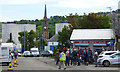 NS3274 : 'Shetland' film crew in Port Glasgow by Thomas Nugent
