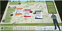 NO2505 : Information board, Purin Hill, Lomond Hills by Bill Kasman