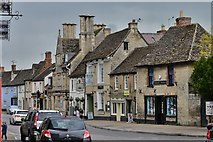 SU2199 : Lechlade: Shops where the High Street joins Burford Street by Michael Garlick
