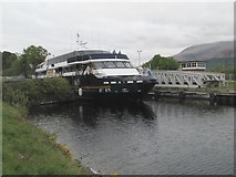 NN1176 : Banavie swing bridge swung by Jonathan Wilkins