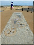 NZ6025 : 100 metre marker on Redcar sea front by Oliver Dixon