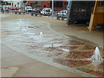 NZ6025 : Seafront fountains, Redcar by Oliver Dixon