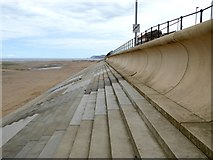 NZ6025 : The wave wall on Redcar seafront by Oliver Dixon