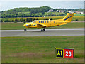 NS4867 : Air ambulance aircraft at Glasgow airport by Thomas Nugent