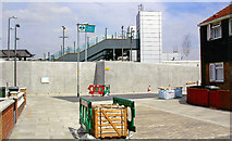 TQ4380 : Entrance to King George V station, DLR 2006 by Ben Brooksbank
