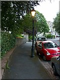 ST5773 : Gas lamp, Clifton Park by Alan Murray-Rust