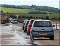 NU0842 : Traffic crossing the Lindisfarne causeway by Mat Fascione