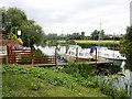 SP0445 : River Avon at Offenham by David Dixon