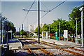 TQ3763 : Croydon Tramlink in Lodge Lane, Addington 2003 by Ben Brooksbank