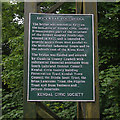SD5193 : Dockwray Footbridge plaque by Ian Taylor