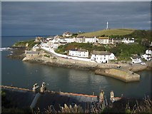 SW6225 : Looking down onto the entrance of Porthleven Harbour by Philip Halling
