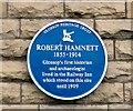 SK0394 : Blue plaque: Robert Hamnett by Gerald England
