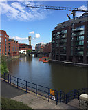 ST5973 : A view of the Floating Harbour and the Shot Tower from Castle Park, Bristol by Robin Stott