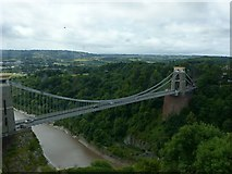 ST5673 : Clifton Suspension Bridge from the Observatory by Alan Murray-Rust