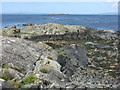 NR6654 : Looking north from Na Crogachan by M J Richardson