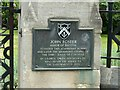 ST5873 : Commemorative plaque, Foster's Almshouses by Alan Murray-Rust