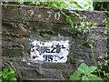 SS6438 : Lynton and Barnstaple Railway – Bridge Inscription by Barrie Cann