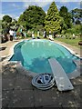 SP1403 : Swimming pool in the grounds of Quenington Old Rectory by Oliver Dixon