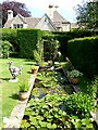 SP1403 : Formal pond in the grounds of Quenington Old Rectory by Oliver Dixon