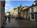 TF0307 : Stamford High Street and the Library by Robin Stott