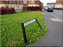 ST2938 : Wonky Standish Street name sign, Bridgwater by Jaggery