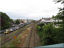 J4792 : The northern approach to Whitehead Railway Station by Eric Jones