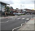 ST2280 : Zebra crossing to Llanrumney Library and Community Hub, Cardiff by Jaggery