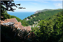 SS7249 : Tree-covered hillsides above Lynmouth by Bill Boaden