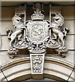 SJ8497 : A Scottish coat of arms in Manchester by Gerald England