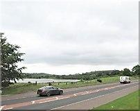 J3655 : The A24 near Dairy Lake, north of Ballynahinch by Eric Jones