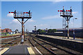 SD3136 : Semaphore signals at Blackpool North by Ian Taylor