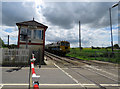 SK8613 : Matisa B1 Tamper approaching Ashwell level crossing by Andrew Tatlow
