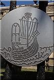 TF6120 : St Nicholas Chapel Pilgrimage Trail Plaque, Chapel Street, King's Lynn by Jo Turner