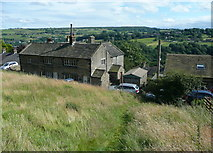 SE0424 : Sowerby Bridge FP35 approaching Warley Wood Lane, Luddendenfoot by Humphrey Bolton
